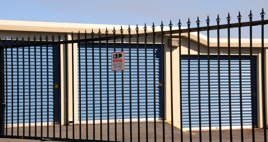 Image of Fence around storage unti